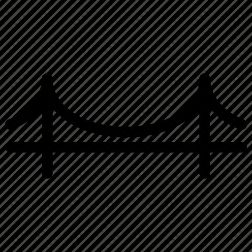 bridge, building, connector, creative, grid, line, shape, structure icon