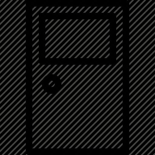 close, creative, door, entrance, grid, handle, key, line, lock, open, opening, shape, way icon