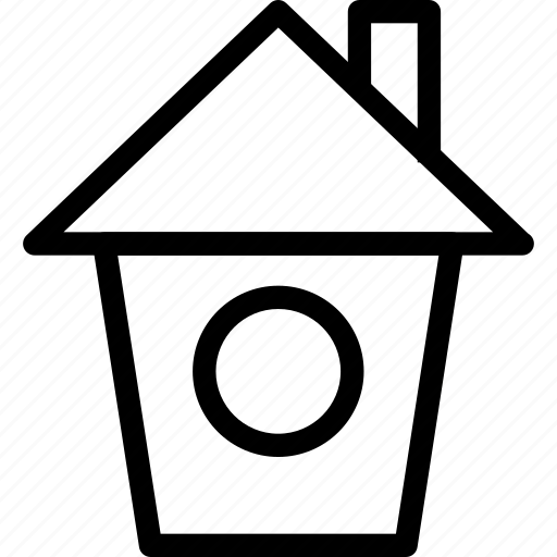 building, creative, grid, home, house, line, real-estate, shape icon