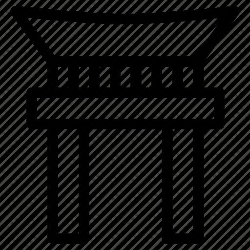 building, creative, entrance, gate, grid, japan, japanese, japanese-gate, line, shape, shinto-shrines, shrines, tori icon