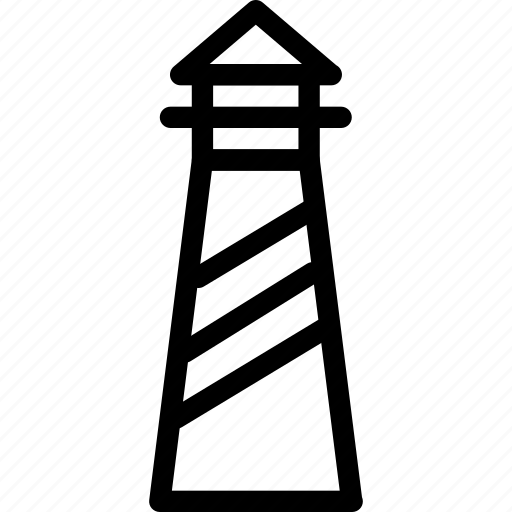 building, creative, grid, harbour, light, lighthouse, line, marine, navigational-aid, sea, shape, signal, tower icon