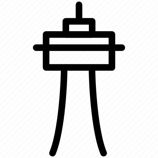 creative, grid, line, needle, observation-tower, shape, space, space-needle, station, tourist-spot, tower, us, washington icon