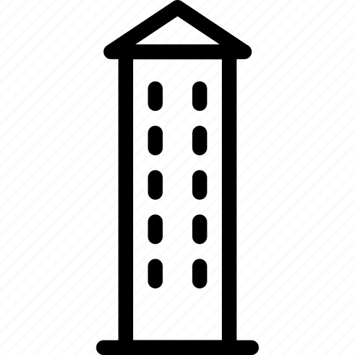 building, creative, grid, line, shape, tower, watch, watch-tower icon