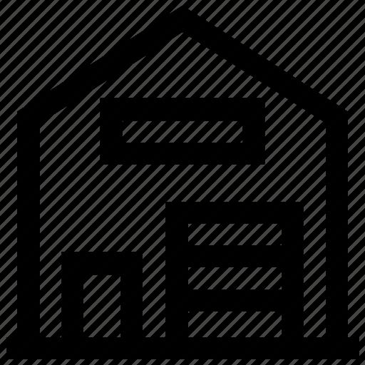building, real estate, storehouse, storeroom, warehouse icon