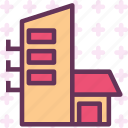 block, building, house, neighbourhood icon