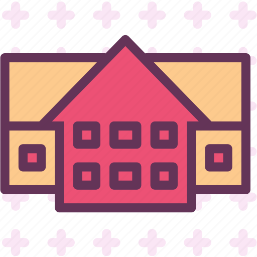 duplex, homes, house, live icon