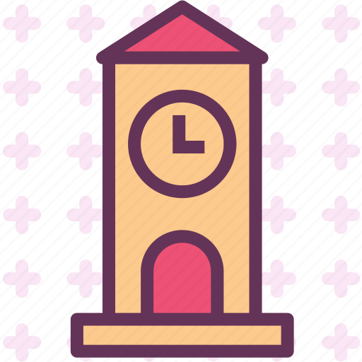 clock, hour, time, tower, watch icon