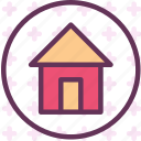 circle, home, house icon