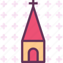 chapel, church, cross, orthodox, religion, tower icon