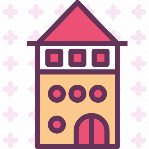 castle, citadel, gate, observer, tower, weather icon
