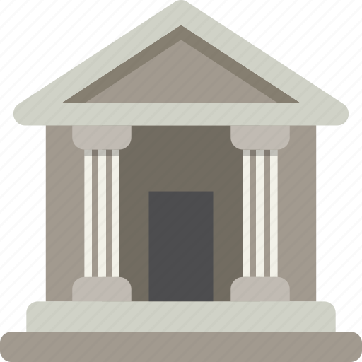 bank, building, court, finance, legal icon