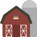 barn, building, farm, silo icon