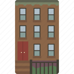 brownstone, home, house, new york icon