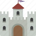 building, castle, fortress icon