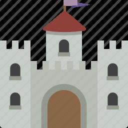 building, castle, fortress icon