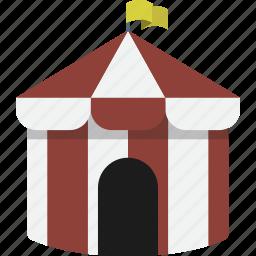 carnival, circus, fair, tent icon
