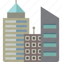 buildings, city, skyscraper icon