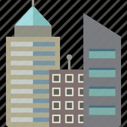 buildings, city, skyscraper icon