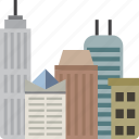 buildings, city, office, skyscraper icon