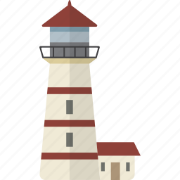 building, lighthouse icon