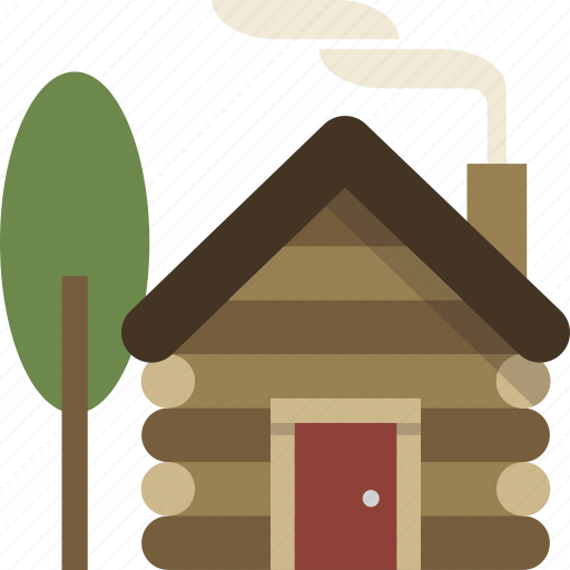 building, cabin, home, house, log cabin icon