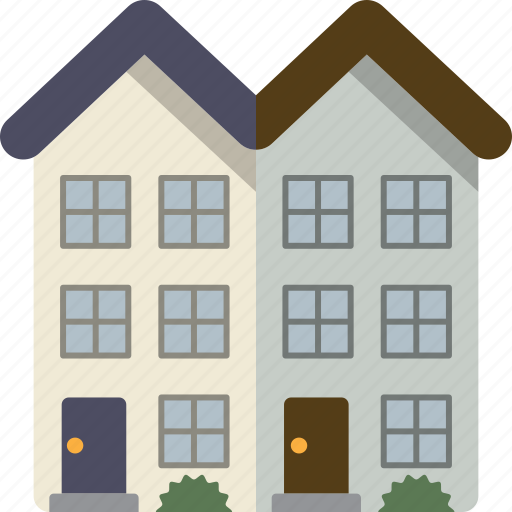 building, home, house, townhouse, townhouses icon