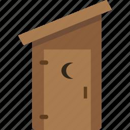bathroom, building, outhouse, toilet icon