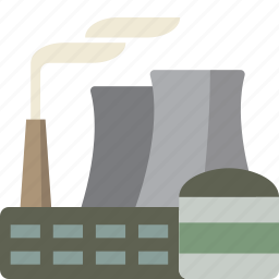 energy, nuclear, power, power plant icon