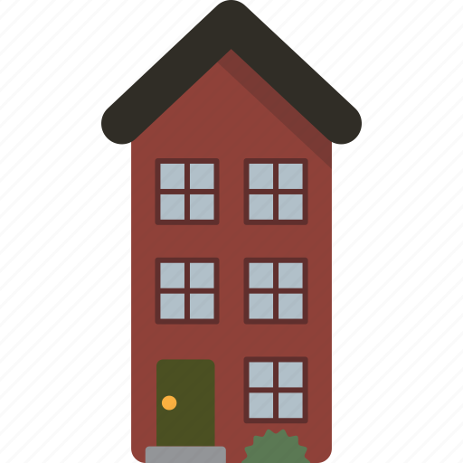 building, home, house, multi-family, townhouse icon