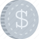 bank, coin, money, payment icon
