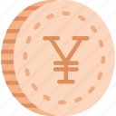coin, coins, japanese, yen icon