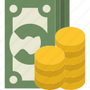 change, dolar, level, money icon