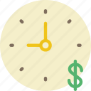 cash, is, money, time, timer icon