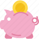 bank, finance, payment, piggy icon