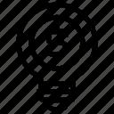 bulb, dollar, idea, light, money icon