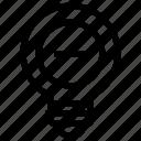 bulb, idea, light, minus, remove icon