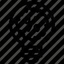 bulb, discount, idea, light, percentage, sale icon