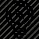 bulb, compass, direction, idea, light icon