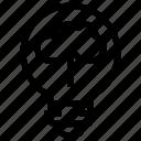 bulb, cloud, idea, light, upload icon