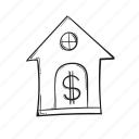 currency, finance, house, money icon