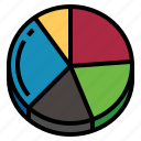 cake, piechart, statics icon