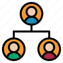 business, hierarchy, team icon