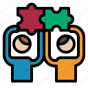 planning, puzzle, teamwork icon