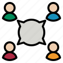 discussion, team icon