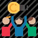 brainstorming, businessidea, team, teamwork icon