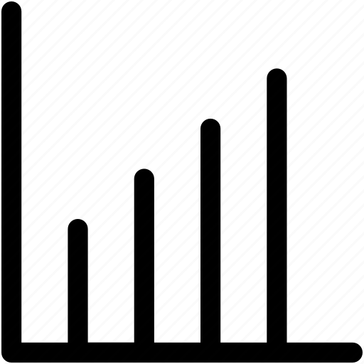 analytics, bar chart, bar graph, financial chart, statistics icon
