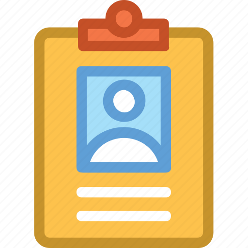 clipboard, cv, profile, recruitment, resume icon