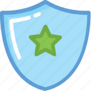business protection, protection, protection shield, shield, star shield icon