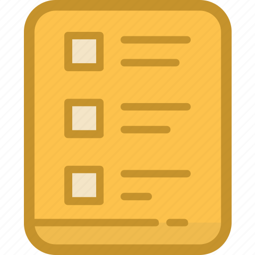 agenda, list, list sheet, memo, sheet icon
