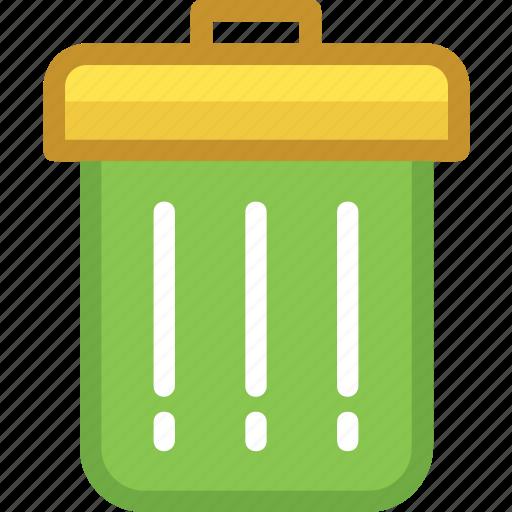 dustbin, garbage can, recycle bin, rubbish bin, trash bin icon